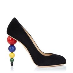 Charlotte Olympia | Mid-Century Heels in Black Suede - Pre-Fall 2015 Collection