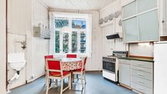 Oslo Kitchen Dining, Kitchen Cabinets, Dining Room, Humble Abode, Studio Apartment, Kitchen Interior, Dorm Room, Color Pop, Interior Design