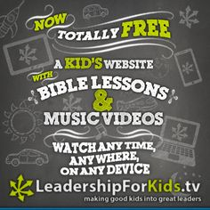 A FREE At-Home Resource - A Kid's Website Teaching Biblical Leadership Values To Kids! | MikeJohnsonsBlog.com