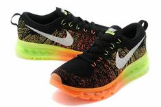 huge selection of f0eb7 a7a3f Discount Women Nike Air Max Flyknit Black Multicolor Hot Lava Electric  620469 018 New Nike Air