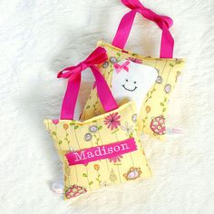 Personalized tooth fairy pillows? ADORABLE! :)