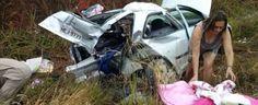 Acidente grave envolvendo 12 carros na GO-139
