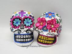 Skull Mexican day of dead weddings cake topper by iampleasure, $120.00