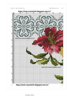 Cross Stitch Borders, Cross Stitch Flowers, Cross Stitching, Cross Stitch Patterns, Palestinian Embroidery, Prayer Rug, Instagram Design, Bargello, Ribbon Embroidery