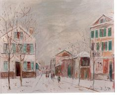 Bourg la Reine, sous la neige by Maurice Utrillo from Galerie Dreyfus