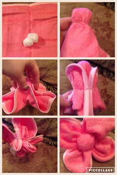 This is how I make a washcloth flower