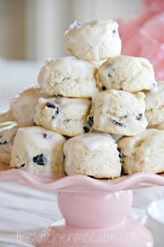 blueberry scones - recipe here: http://thekitchenmccabe.com/2013/10/01/blueberry-and-cream-scones/