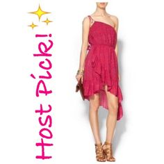 ✨NWT✨ Free People Strapless Ruffle dress NWT! Adorable Free People strapless ruffle dress. Cute ruffle detail at hem. Fully lined. Colors are pink, orange, and purple. Size Small, but runs a little big(the only reason why I am selling it!). There is elastic at top and waist, and I think it fits more like a Medium. ***No Trades, Price Firm unless bundled*** Free People Dresses Strapless