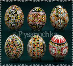 Ukrainian Pysanka Set of 6 Hand Made Hutsul Chicken Pysanky Easter Eggs | eBay
