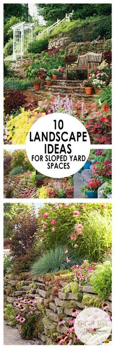 How to Landscape Sloped Yard Spaces, Landscaping, Landscaping TIps and Tricks, How to Landscape A Sloped Yard, Sloped Yard Landscaping Tips, Gardening, Gardening Ideas, Yard and Landscape Hacks, Popular Pin