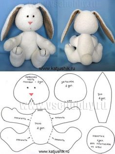 Plushie Patterns, Animal Sewing Patterns, Sewing Stuffed Animals, Stuffed Animal Patterns, Teddy Bear Sewing Pattern, Homemade Dolls, Felt Crafts Diy, Fabric Animals, Baby Sewing Projects
