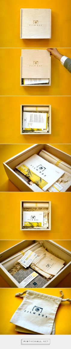 The wooden box makes this look really sophisticated. Love the idea of having a portfolio in a wooden box.