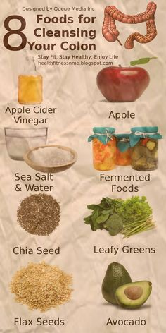 These Are The Foods That Naturally Cleanse Your Colon - Infographic