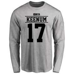 Case Keenum Player Issued Long Sleeve T-Shirt - Ash