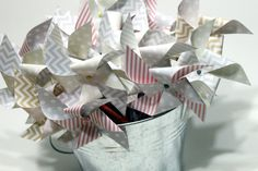 Pinwheel pixy stick (50) party favors - wedding favors, bridal shower, baby shower shabby chic.