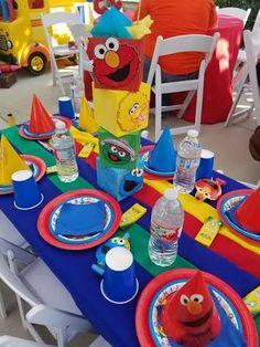 Resultado de imagen para centros de mesa de plaza sesamo