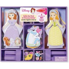 Melissa & Doug Disney Sofia the First and Princess Amber Wooden Magnetic Dress-Up - Walmart.com