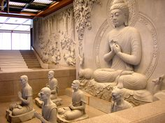 Gautama Buddha, Buddha Buddhism, Buddha Art, Grand Hall, Temple Design For Home, Tibet, Buddha Garden, Bodhi Tree, Buddha Sculpture