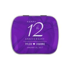 Elegant 12th Silk Wedding Anniversary Celebration Candy Tins - elegant gifts gift ideas custom presents