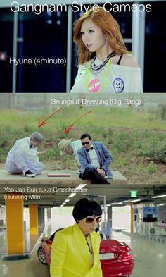 Gangnam Style Cameos | Hyuna, Seungri & Daesung, Yoo Jae Suk.
