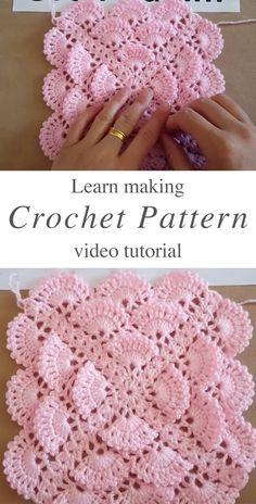 Crochet Pattern For Baby Blanket Tutorial This tutorial will walk you through a beautiful crochet pattern for baby blanket! This crochet stitch makes the most interesting texture I have encountered! Crochet Motifs, Crochet Blanket Patterns, Baby Blanket Crochet, Baby Patterns, Knitting Patterns, Baby Blankets, Crochet Stitches For Blankets, Pattern Sewing, Crochet Squares