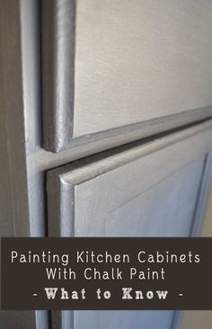What to Know About Painting Kitchen Cabinets With Chalk Paint