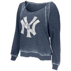 G34HER+by+Alyssa+Milano+New+York+Yankees+Burnout+Sweatshirt+-+Women's