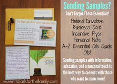How to Send Effective Samples - EssentialOilsForTheFamily.com