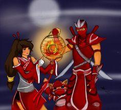 Akali, Kennen, and Shen