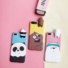 Diy phone cases 803118546021780215 - Cartoon Animals Cute We Bare Bears Soft Silicone Case Cover Skin For iPhone Source by francisca_lynch