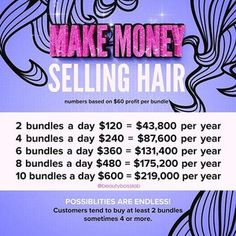 4 Viral Marketing Tactics 💰💰A little business math for my ladies selling hair✨ Want to learn the foundation to branding, building and selling hair extensions online? click the link in my bio Marketing Viral, Marketing Tactics, Sell Hair Online, Hair Products Online, Business Hairstyles, Trendy Hairstyles, Hairstyles Pictures, Black Hairstyles, Luxy Hair