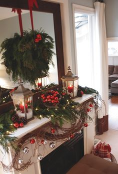 Christmas Mantels Design, Pictures, Remodel, Decor and Ideas