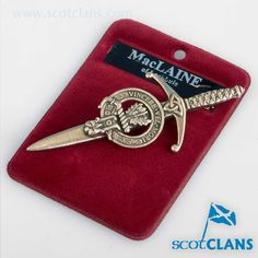 MacLaine Clan Crest Kilt Pin. Free worldwide shipping available