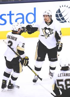 Matt Niskanen and James Neal, Pittsburgh Penguins. It's just yesterday. Never ever  these two will be FORGOTTEN. Missing them it's hard to bear with Pens.