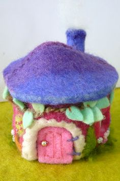 Felted Fairy House!   . . . for Heather.