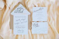 pretty script invitation suite   Erika Delgado #wedding #Jamiespartymenus