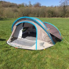 Quechua 2 Seconds XL Air 3 Man Popup (Pop up) Tent- C&ing / Festivals & Quechua 3 Seconds 3 Man Popup Tent Double Skin Camping / Festival ...