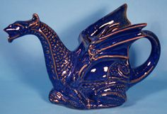 Dragon blue colour. Teapot