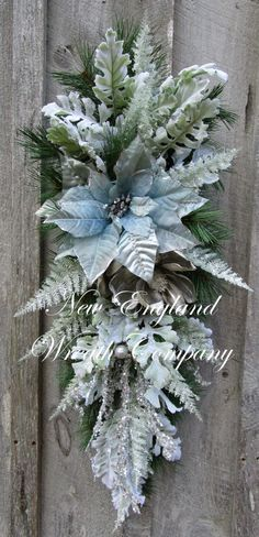 Christmas Wreath, Christmas Swag, Holiday Wreath, Designer Holiday, Elegant Christmas, Jeweled Swag, Winter Floral, Victorian by NewEnglandWreath on Etsy https://www.etsy.com/listing/207646983/christmas-wreath-christmas-swag-holiday