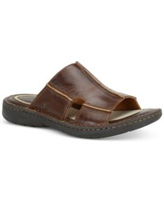 Coach Men S Slide Sandal Leather Sandals Amp Slippers