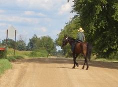 """""""Do Amish ride horseback? Riding horseback is not common, but some Amish do, for recreation and in some cases short-distance transportation. In The Riddle of Amish Culture, Donald Kraybill writes that the practices """"generally discouraged because it borders on a worldly form of sport"""" (Riddle, p. 70). More likely to be seen among younger Amish people."""