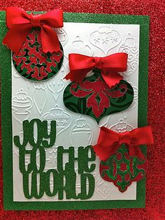christmas ornaments made with cricut   ... : Cheerful Christmas Bag with Cricut Paper Trimmings Cartridge