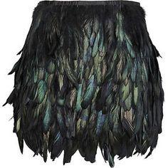River Island Black Feather Skirt Profile Photo