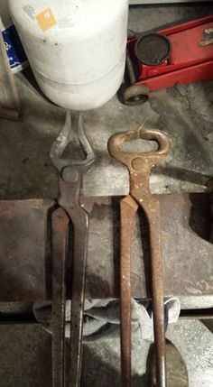 Tongs from nippers. More