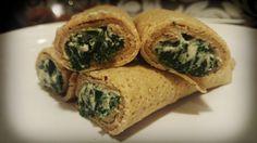 Wholemeal pancakes with spinach and ricotta. | Naleśniki razowe ze szpinakiem i ricottą. Zdrowa wariacja na temat przepisu z książki kucharskiej Stanisława Bergera Kuchnia Polska :)