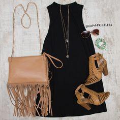 Say It Swing Dress - Black                              …
