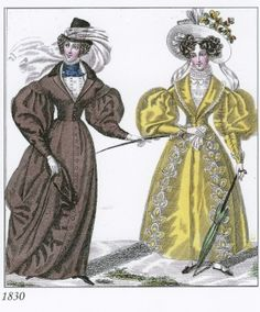1830 riding habit and walking dress