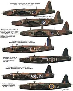 Vickers 'Wellington' (UK) by x-ray delta one Ww2 Aircraft, Military Aircraft, Wellington Bomber, Lancaster Bomber, Aircraft Painting, Military Pictures, Ww2 Planes, Battle Of Britain, Royal Air Force