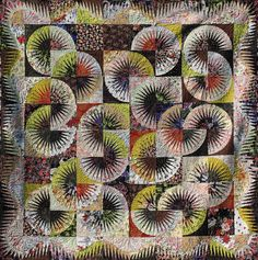 Japanese Fan ~ Quiltworx.com, made by Certified Instructor, Judy Wurm
