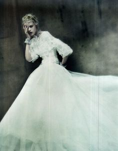 """The Haute Couture"" Model: Frida Gustavsson Photographer: Paolo Roversi Magazine: Vogue Italia, 9/11"